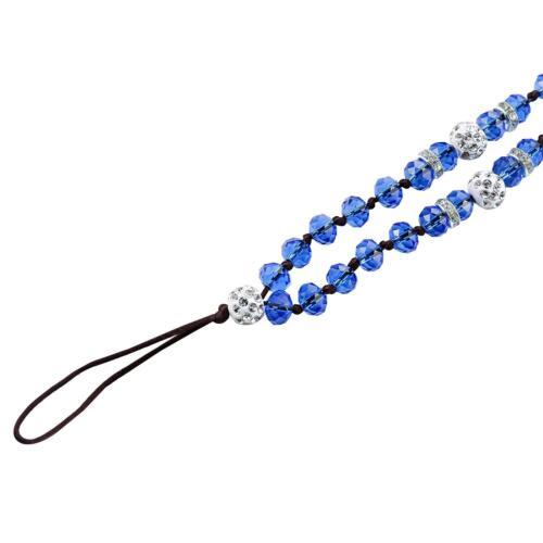 Beaded Bling Lanyard 6 Pack Bead Neck Strap for ID Card Badge Key Phone Women