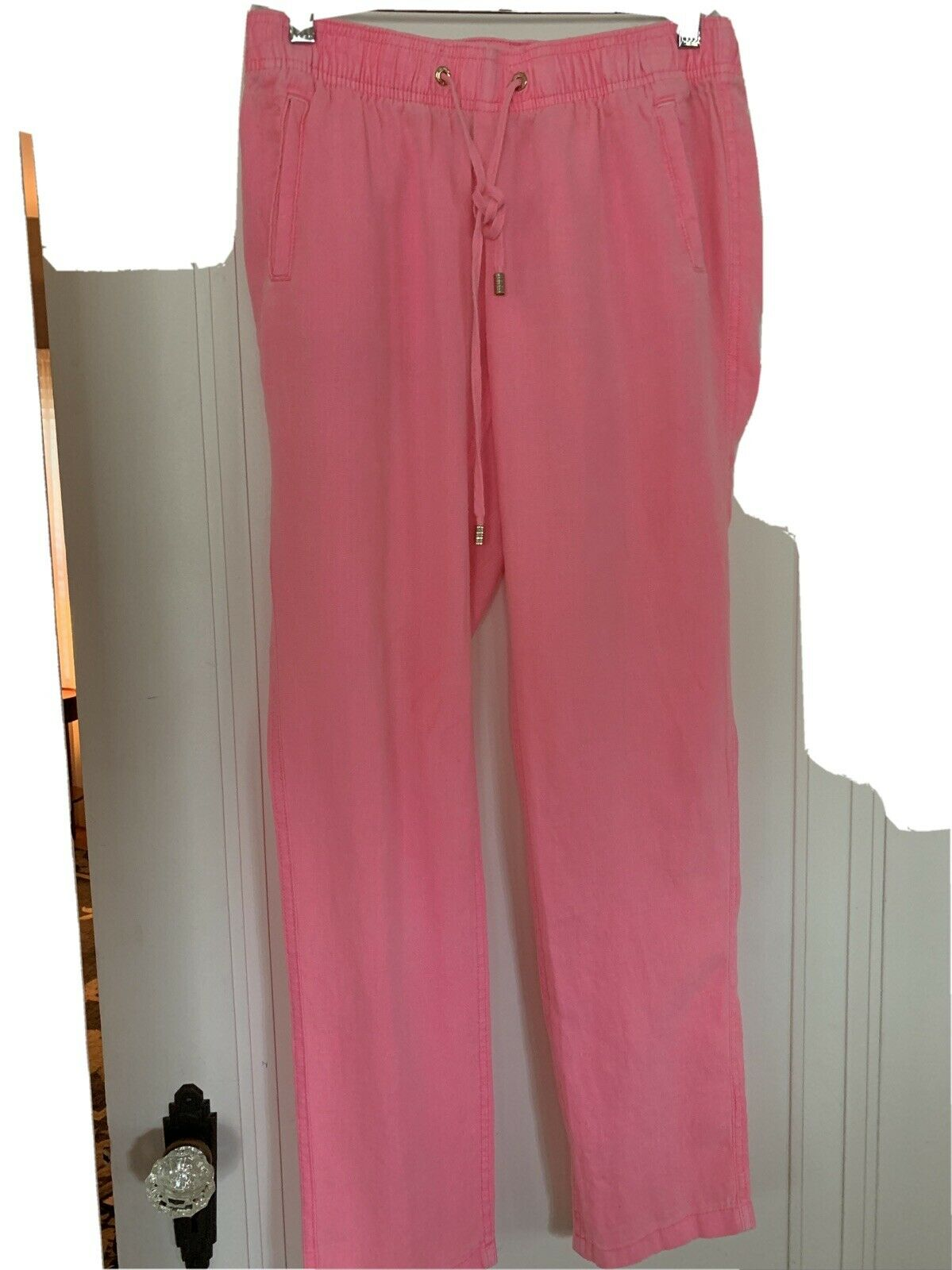 """LILLY PULITZER Linen """"Hot"""" Pink Casual Linen Pant… - image 1"""