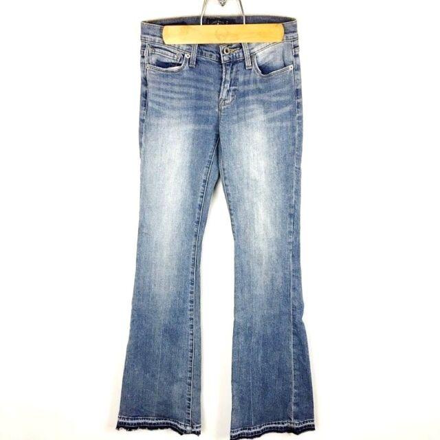 (O2-16) Lucky Brand Women's Sz 00 Blue Jeans Brooke Flare Stretch Medium Wash