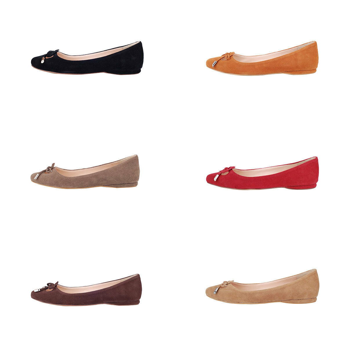 Verocara Women Flat Round Toe Bow-tie Light Genuine Suede Leather Flat Pump Shoe