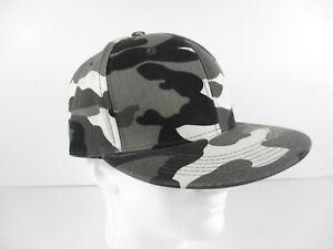 New Era 9FIFTY Flat Brim Snapback Hat Cap -Black and White Camo  6213d454ee6