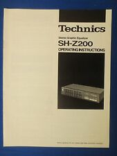 TECHNICS SH-Z200 EQ OWNER OPERATING MANUAL ORIGINAL FACTORY ISSUE THE REAL THING