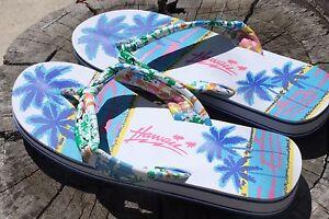 Image Is Loading Women 039 S Hawaiian Slipper Sandals White