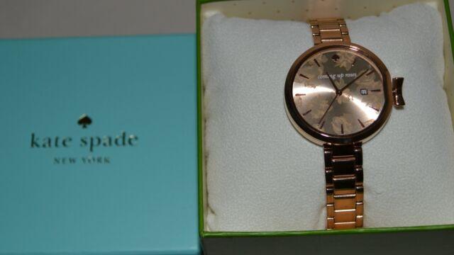 5ce0f38f1 Kate Spade 34mm Park Row Rose Goldtone Bracelet Ladies Watch KSW1397 ...