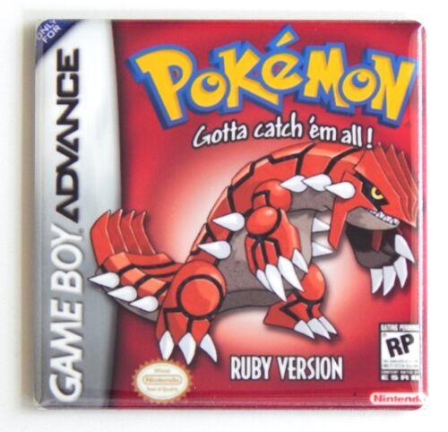 Pokemon Ruby FRIDGE MAGNET video game box