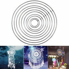 10x Metal Dream Hoops For Dream Catcher Ring Butterfly Macrame Craft 4.5-19cm H