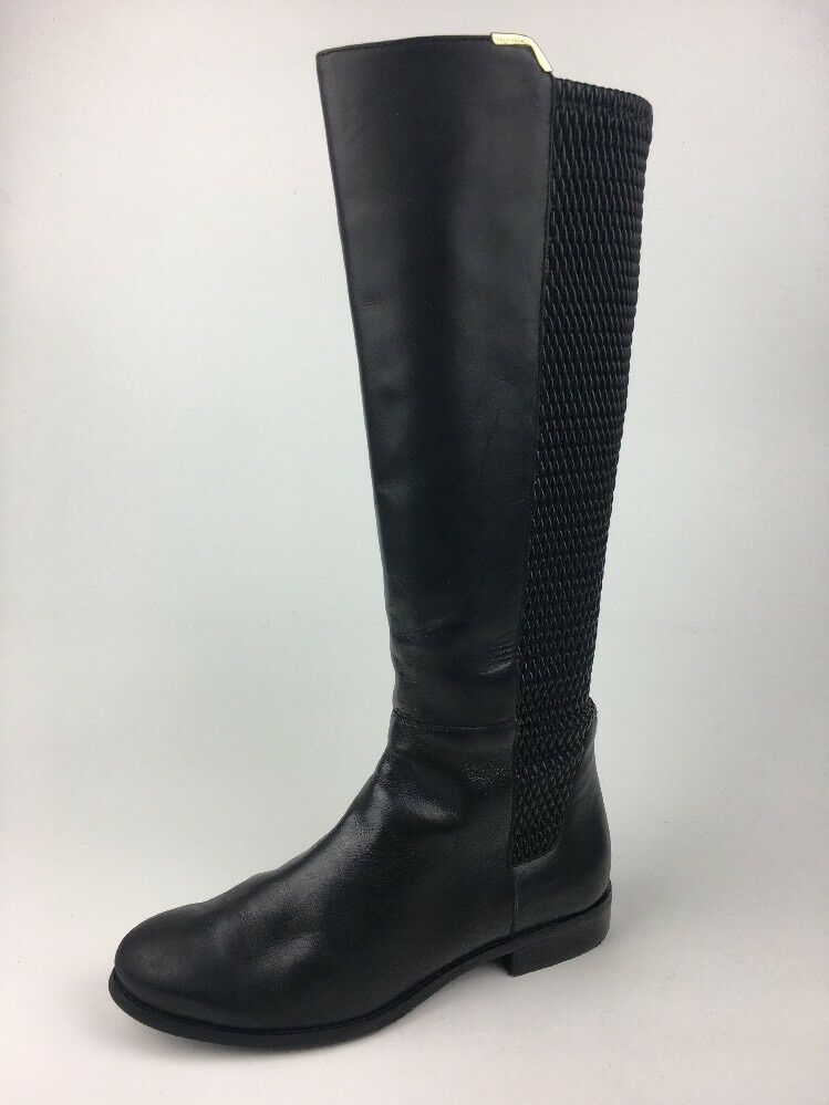 Cole HAAN Damen Rockland Schwarzes Leder Stiefel Stiefel Stiefel Reitstiefel -w00210 Größe 7.5B f1688d