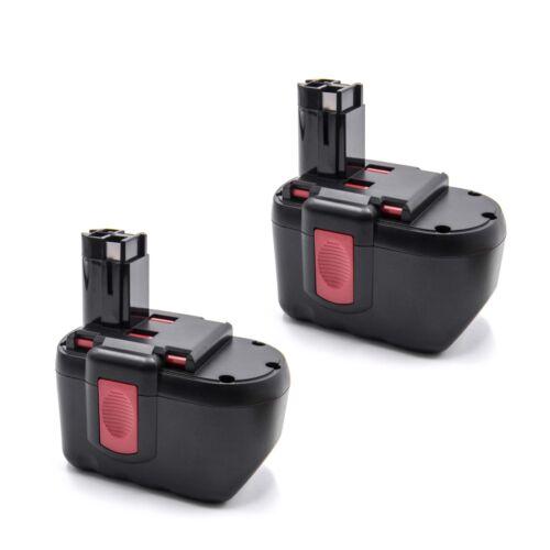 GST 24 V 2x Outil Batterie NiMH 24 V 2000 mAh pour Bosch GSR VE 24ve-2 PSB 24ve-2