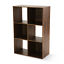 thumbnail 2 - Stylish Accented 6 Cube Storage Organizer, Rustic Brown or Canyon Walnut