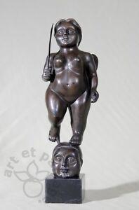 Cherubin-Statuette-en-bronze-et-marbre-de-style-Botero-beaux-details-soignes