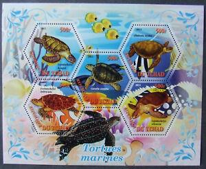 Tchad 2011 -Turtles1 M/Sh, MNH, EP 002