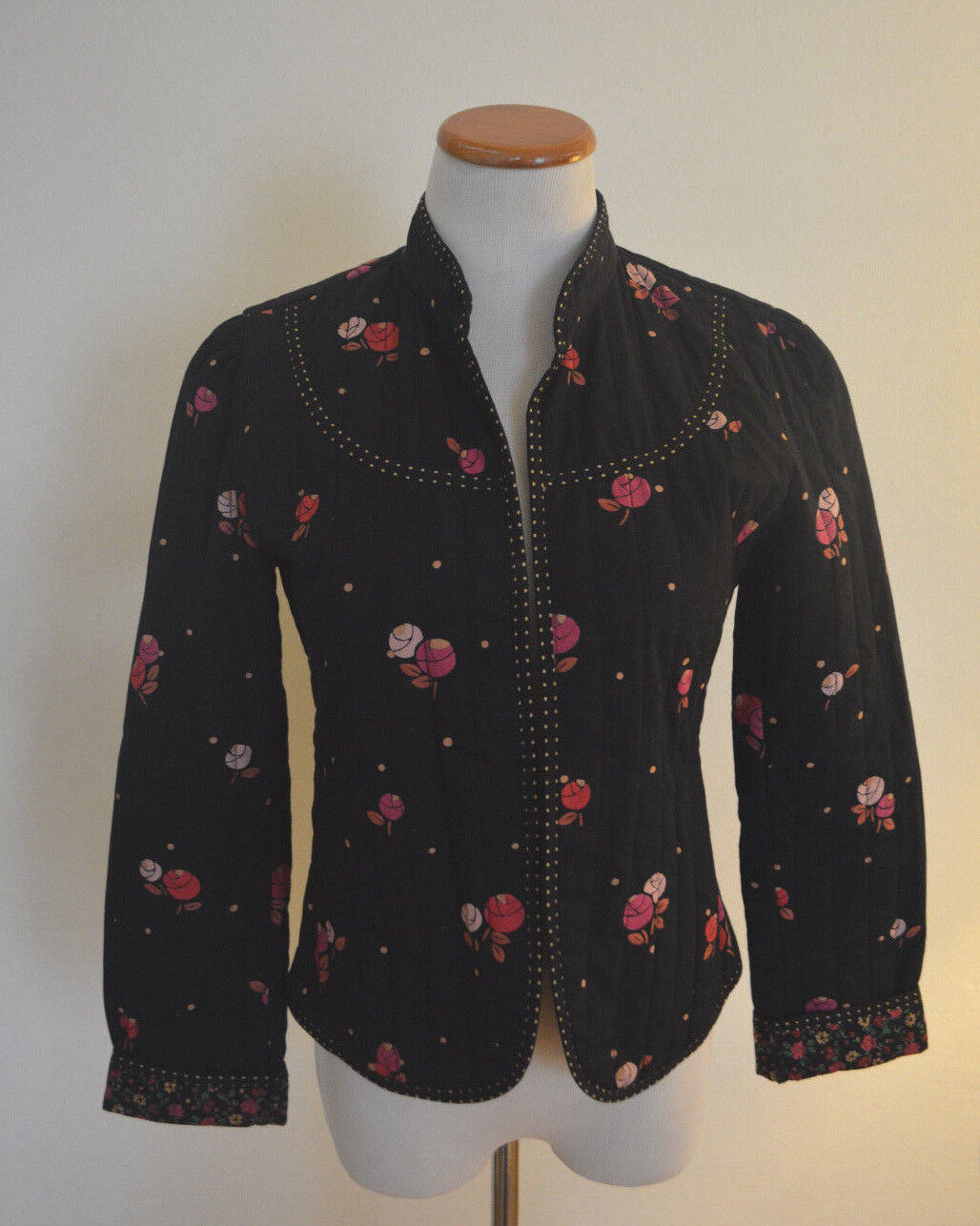 """4 Anthropologie Rose """"Calico Quilted Jacket""""  - image 5"""