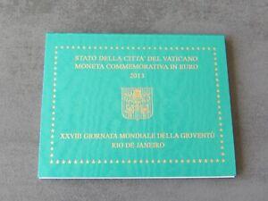 Commémorative 2 euros Vatican 2013 BU - Journee mondiale de la jeunesse à Rio