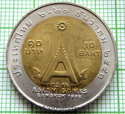 THAILAND 10 BAHT 100TH OF THE CENTRAL HOSPITAL 1998 BI-METALLIC COIN UNC