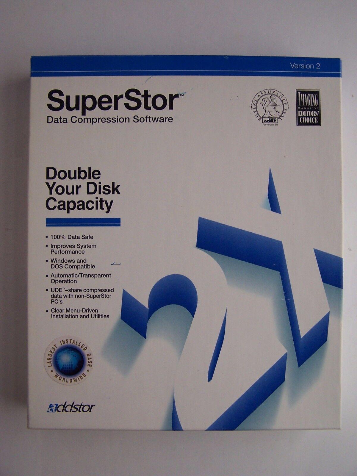 addstor's SuperStor Ver 2.0 PC Software Floppy Disk Vin