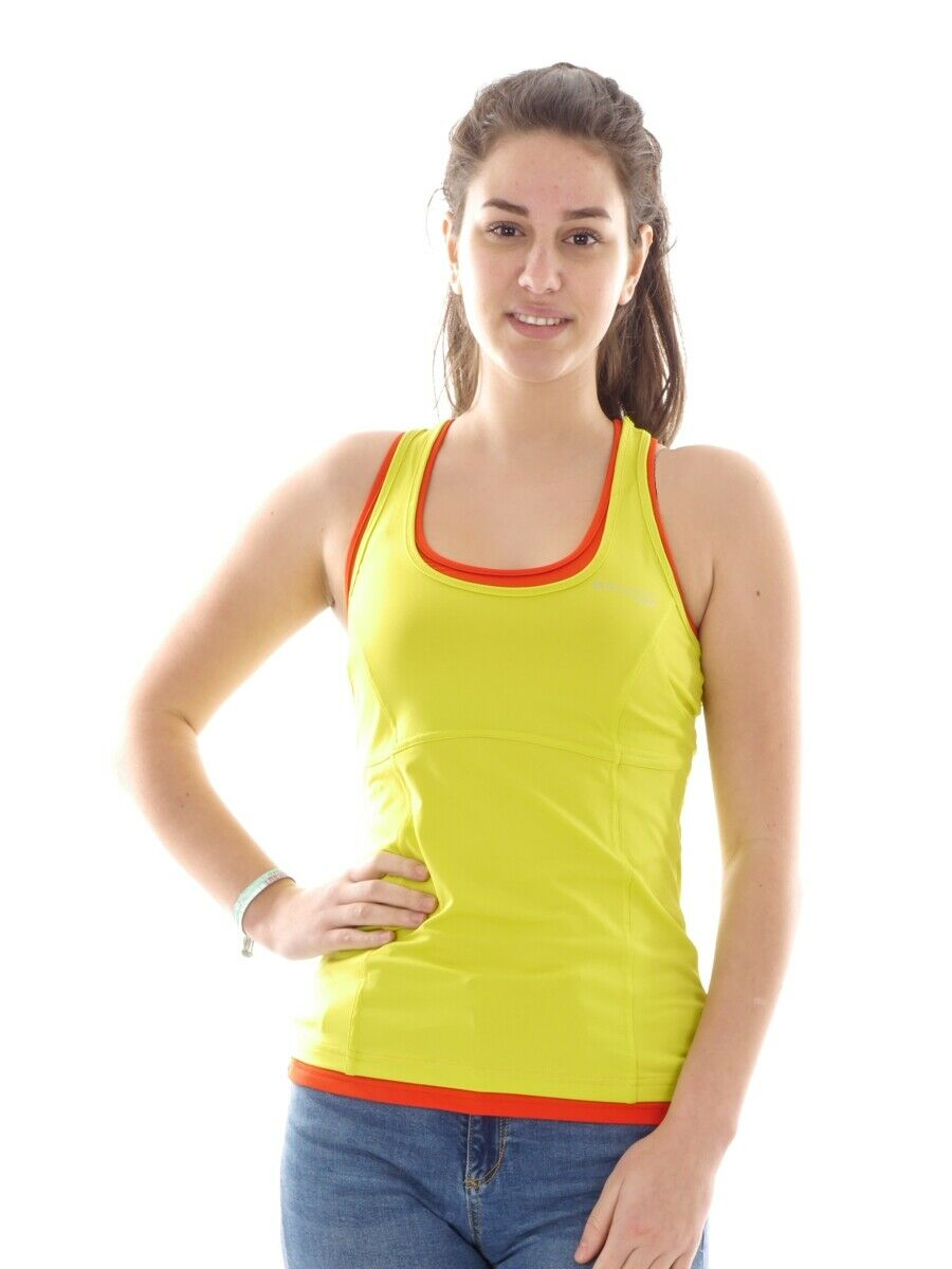 Brunotti Dress Shirt Tank Top Running Shirt  Yellow Neon Blake Mesh Breathable  more discount