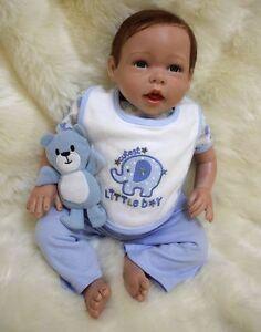 20/'/' Vinyl Lifelike Reborn Baby Doll Handmade Newborn Doll Bebe Toys Xmas Gift