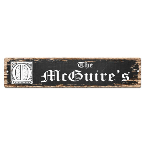 SPFN0482 The MCGUIRE/'S Family Name Street Chic Sign Home Decor Gift Ideas
