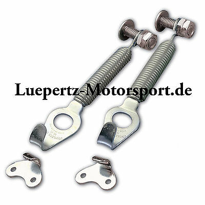KöStlich Edelstahl Competition Haubenhalter Terry Feder Motorsport Youngtimer Rallye Clear-Cut-Textur