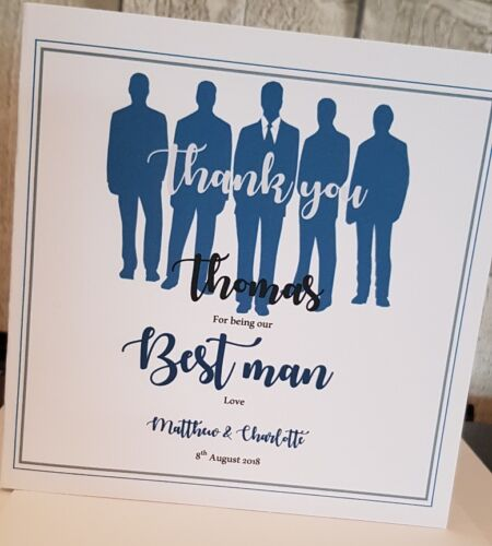 Usher Groomsman card. Thank You for being my Best Man