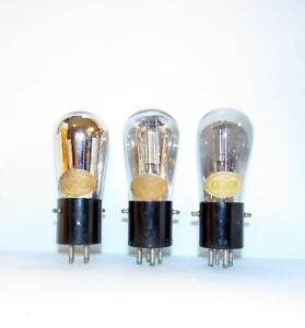 3 Sparton Cardon AC-373 3 volt amplifier tubes with good continuity. Like 401A