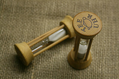 Teeuhr aus Holz, Laufzeit 3 Minuten, Sanduhr, neu, Tea-Timer, Teezeitmesser