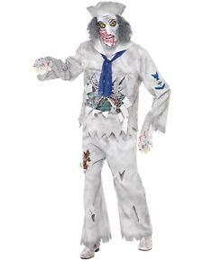 Deguisement-Halloween-Hommes-Zombie-Marine-Costume-Et-Masque-by-Smiffys-Neuf