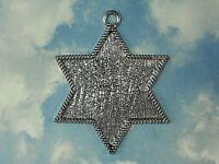 Large Star Of David Bezel Tray Silver Blank Pendant Judaica 76mm Mosaic P1073