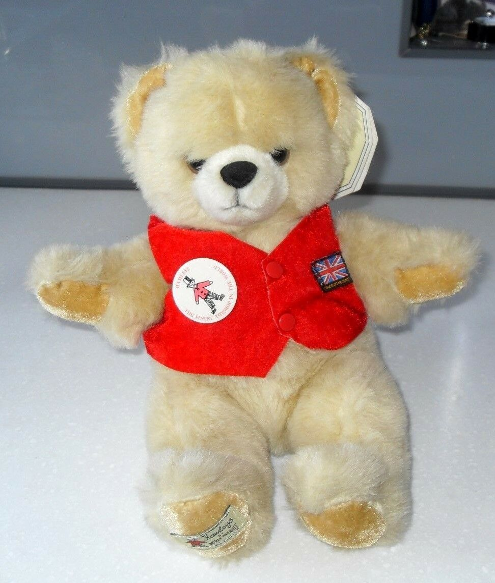 VINTAGE 1980s Merrythought NUOVE Teddy Bear con etichetta & Badge