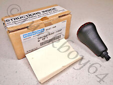 97-01 HONDA PRELUDE GENUINE AUTOMATIC OPTIONAL RED STICHED LEATHER SHIFT KNOB