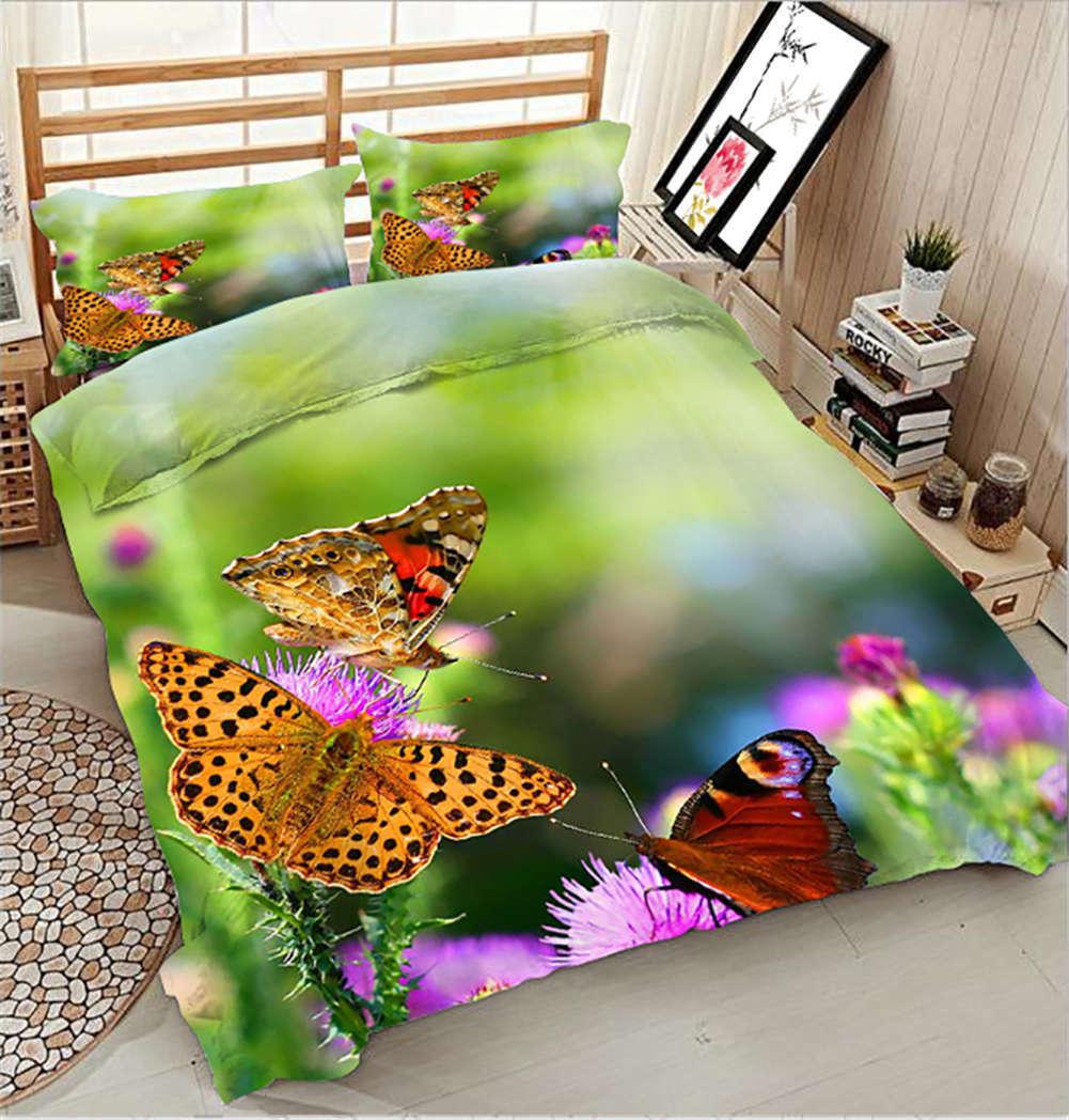Gather Sweet Honey 3D impression couette courtepointe volonté des couvertures PilFaible cas literie ensembles