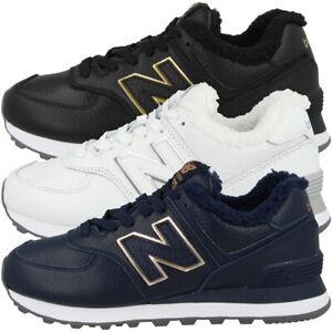 Details zu New Balance WL 574 RM Schuhe Leder Sneaker gefüttert WL574RM  Winter Turnschuhe
