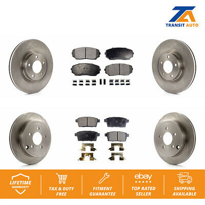 Front+Rear Drill Slot Brake Rotors /& Ceramic Pads For 2007 2008-2010 Edge MKX