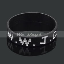 Item 1 Wwjd What Would Do Wristband Women Men Silicone Rubber Bracelet Bangle