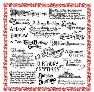 Happy birthday greetings sayings poems flonz 850 clear stamp acrylic image is loading happy birthday greetings sayings poems flonz 850 clear m4hsunfo
