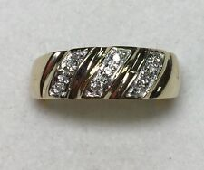 1/10 ct mens Natural (REAL) DIAMOND ring SOLID 14k yellow GOLD (6.2 grams)