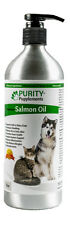 Pure Salmon Oil For Dogs - Omega 3 & 6 for Soft Shiny Coat & Health Support 17oz