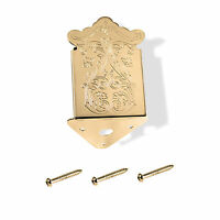 Tailpiece, Mandolin, Screw On, Clamshell Style, Gold, 109605gd