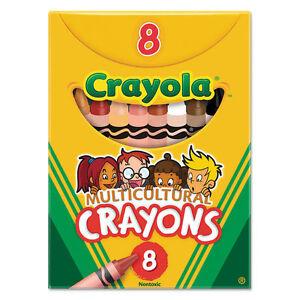 Crayola Multicultural Crayons, 8 Skin Tone Colors/Box