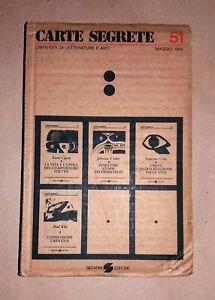 Carte Segrete 51 - Rivista trimestrale di lettere e arti - G. Serafini Ed.,1986