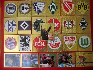 Panini ALLE WAPPEN 493-498 Fussball Bundesliga 2002 TOP Glitzer