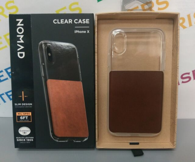 low priced 4177b 90313 Nomad Clear/horween Brown Leather Rugged Apple iPhone X Case Strong  Protection