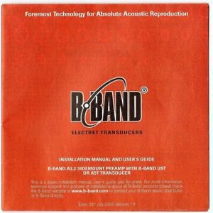 B-BAND-Installation-Manual-amp-Users-Guide-Good-Condition