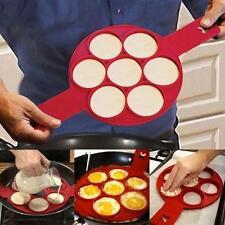 Perfect Flippin Non Stick Pancake Pan Flip Breakfast Maker Eggs Omelette Tool LG