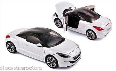 NOREV 2013 PEUGEOT RCZ WHITE / BLACK 1/18 DIECAST CAR MODEL 184782