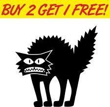 Scary Cat Spooky Halloween vinyl decal window sticker laptop car funny scary