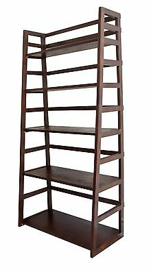 Simpli Home Acadian Collection Tobacco BrownLadder Shelf