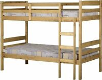 Seconique Childrens Bed - Panama Bunk Bed - Solid Waxed Pine