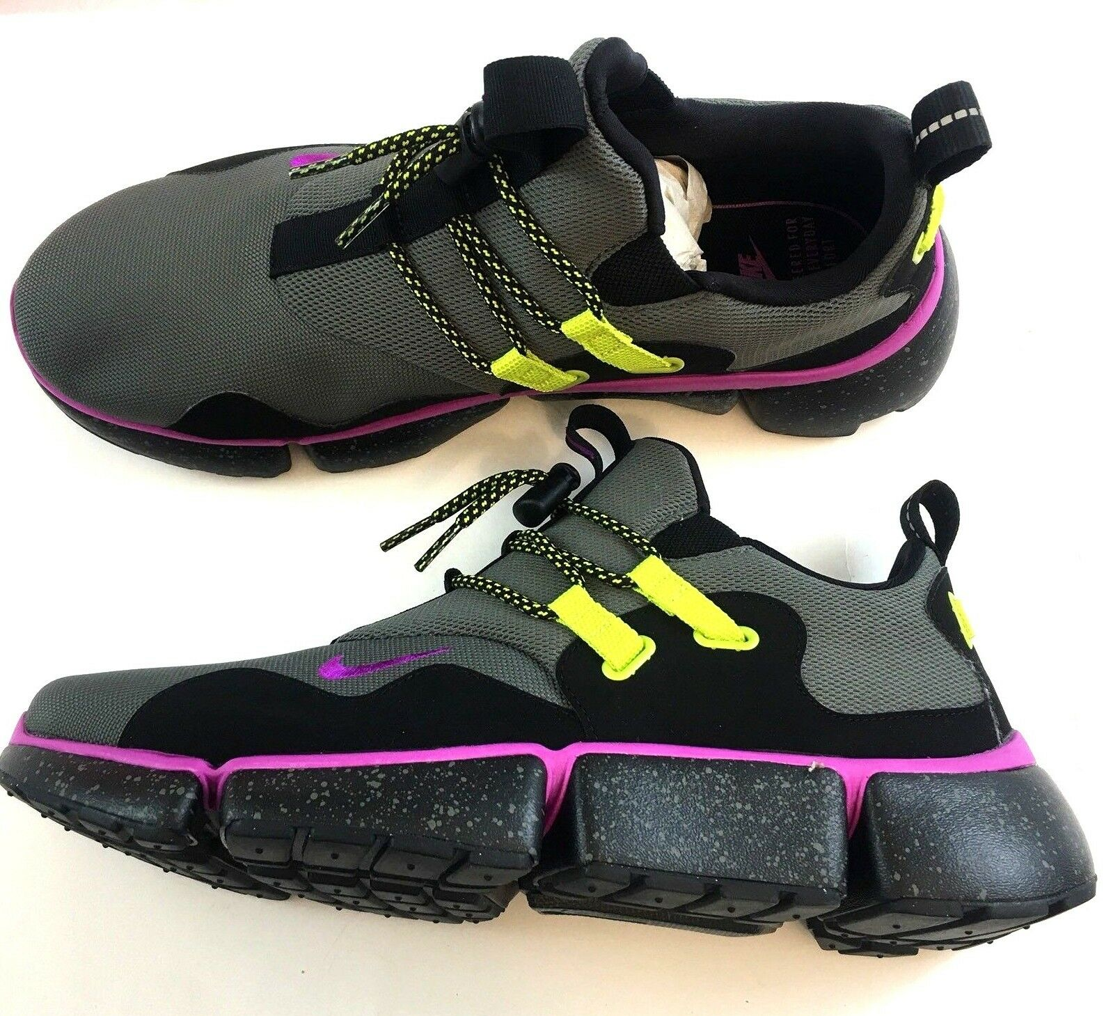 New  130 Nike Mens 11.5 Pocketknife DM SU River Rock Hyper purple Black Sneakers