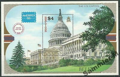 Capitol And Great Variety Of Designs And Colors Orderly Belize 1986 Mi# Block 82 Mnh ** The U.s Ameripex Famous For High Quality Raw Materials Full Range Of Specifications And Sizes